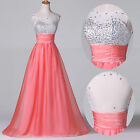 2015 Long Luxury Sequins Evening Formal Party Gown Prom Bridesmaid Dress Wedding