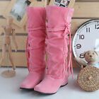 Fashion Women's  Winter Warm Snow Boot Tassel Mid-calf Boots Shoes US Size 3-12
