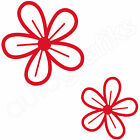 16 DAISY FLOWER DECALS Car Graphics Wall Art Stickers (F4)