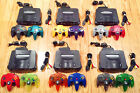 N64 Nintendo 64 Console + Cords + 2 AUTHENTIC Controllers (TIGHT STICKS) + GAMES
