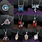 Swarovski crystals Lady Necklace Pendant chain 18k white gold plated OS23-OS32