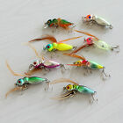 Practical Hot New Crankbait Fishing Lures Sinking Jerkbait with Feather 8 Colors