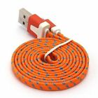 3FT Noodle Fabric Charger Sync Data Cable For Samsung Galaxy S2 S3 S4 S5 Note2 4