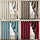 Sara Chenille Luxury Contemporary Ring Top Eyelet Lined Curtain Drapes