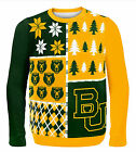 Baylor Bears Busy Block Holiday Xmas Ugly Sweater NCAA College Licensed Mens