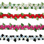 "5/8"" Multi-color Red Pink Blue Black Embroidered Floral Trim by Yardage"
