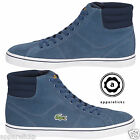 Lacoste Men's Marcel MID Sport Trainers Casual Shoes Lace Up Blue Flat Hightops