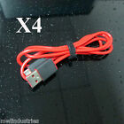 (4X) Replacement USB Charging Cable for Monster Beats Wireless and Pill Speaker
