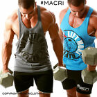 """Men's """"REPEAT"""" Gym Singlet Stringer Tanks Weight lifting YBack Racer Back Muscle"""