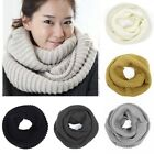 Nice Women Winter Warm Infinity 2 Circle Cable Knit Cowl Neck Long Scarf Shawls