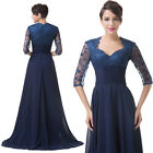 2/1 Sleeve Masquerade Wedding Mother of the Bride Ball Gown Evening Party Dresse