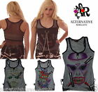 MESH VEST TOP CHAINS ZIP LADIES GOTH EMO HALLOWEEN