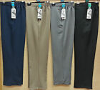 LADIES HALF ELASTIC POLYESTER ELASTANE SOFT TOUCH STRETCH FABRIC POCKET TROUSERS