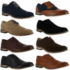 Mens Smart Formal Casual Lace Up Blue Faux Suede Brogues Shoes Sizes 6 to 12