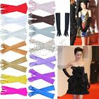 LADIES GIRLS LONG STRETCH SATIN BRIDAL WEDDING PROM PARTY COSTUME OPERA GLOVES