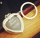 VALENTINES GIFT Metal Heart-shaped Keyring Photo Frame Insert Photo
