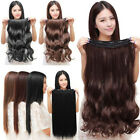 Women 3/4 long full head Clip In Hair Extensions straight curly with 5 clip Hot