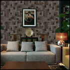 Brown Grey Tile Pattern Print Wallpaper Rolls Damask Modern Vintage Feature Wall