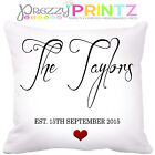 ❤PERSONALISED Family Cushion Wedding Anniversary Gift Valentines Christmas Love❤