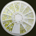 Hot Sail Nail Art Acrylic Glitters Tips Decoration Manicure Bead Wheel Gem