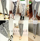 New Sexy Ladies Women Skinny Printed Leggings Full Length Stretchy Trousers
