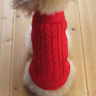 Winter Pet Dog Cat Warm Knitwear Sweater Small Puppy Coat Apparel  +Buckle