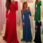 STOCK NEW Sexy Long Chiffon Bridesmaid Formal Gown Ball Party Evening Prom Dress