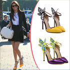 Womens Sexy Butterfly High Heel Stiletto Sandals Vampire Diaries Celeb Shoes SZ