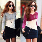 Ladies Warm Slim Sexy Winter Long Sleeve Casual Party Sweater Short Shirt Dress