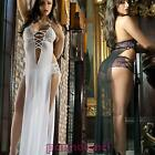 Babydoll donna chemise lunga abito culottes pizzo sexy lingerie nuovo DL-1524