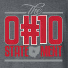 THE OHIO STATEMENT t-shirt ohio state buckeyes national champions football NEW