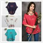 HOT Women Ethnical Embroidered Maternity Loose Blouse Lady Pregnant Mini Dress