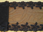 "Superb~Black Embroidered Stretch Tulle LACE  7.5 ""Lingerie/Costume/Trim"