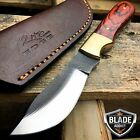 "7.5"" FULL TANG SAWMILL FILE SKINNER KNIFE FIXED BLADE + TOOL LEATHER SHEATH"