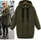 FASHION Womens NEW Loose Pullover Hoodies Hooded Coat Sweats Tops Blouse Black