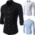 New Men's Luxury Slim Fit Stylish Formal Dress Shirts Casual Shirts Tops 3colors