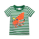 Boys Kids cotton Short sleeve Tee Striped T-Shirts Tops Baby Toddlers 18M-6T New