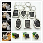 Metal Heart Round Apple-shaped  Frame Insert Photo Keychain