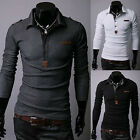 Cheap Fashion 2015 Mens Slim Fit Long Sleeve Polo Shirt Casual T-Shirt Tops XS-L