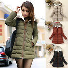 FREE SHIPPING ~ Fashion Woman Winter Padded Down Jacket Down Coat Outerwear