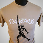 Spartacus Movie Themed Retro T Shirt Stanley Kubrick Kirk Douglas Cool Tan