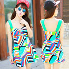 2pc Women Colorful Tankini Swimsuit Swimwear Swim Dress Top and Boxer Bottom Set