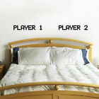 Player 1 Player 2 Wall Sticker - Gamer Couple's Bedroom Wall Decal