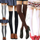 New Women Lady Girls Half Over The Knee Cotton Socks Thigh High School Stockings