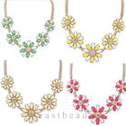 Retro Fashion Fresh Flower Choker Bib Statement Necklace Collar Chain Pendant