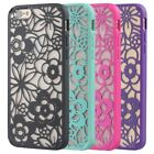 Vintage Floral Pattern Design Rubberized Hard Case Cover For iPhone 6 Plus 5.5""