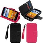 Wallet Folio Leather Folding Stand Cover Case w/ Card Holder for AT&T ZTE Z998