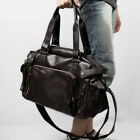 Men Handbag Brown Leather Tote Purse Large Shoulder Duffle Satchel Messenger Bag