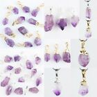 Amethytst Quartz Crystal Drusy Gemstone Nugget Bead Stone Pendant For Necklace