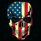 Patriotic Skull American Flag T Shirt Old Glory Small to 6XL Tall